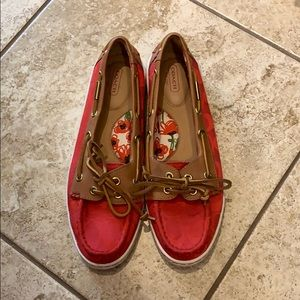 Coach Red Boat Shoes